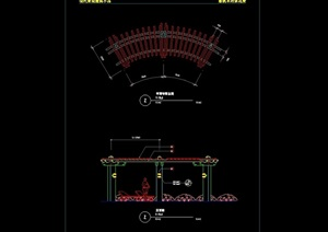 悬臂式花架素材设计cad方案