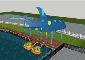 游船码头排队平台,海洋主题包装设计