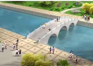 详细的完整拱桥cad施工图及效果图