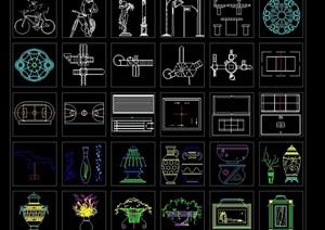 多个详细的人物图例设计cad图