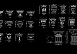 欧式构建素材集设计cad图例