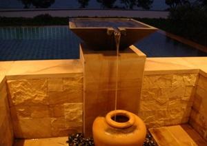 景观水钵花瓶喷泉CAD施工图