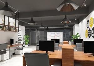 办公室设计,带贴图模型广域网。