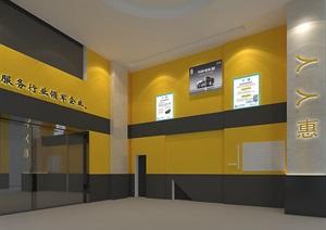 汽修车间洗美空间、休息区设计。快修服务