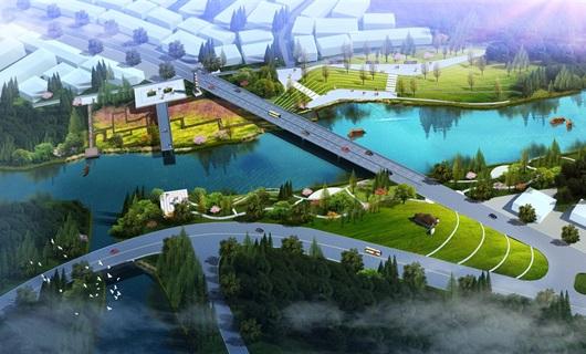 山东某镇河道景观设计