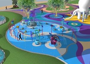 现代海洋主题儿童乐园SU(草图大师)模型