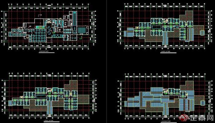 欧式风格详细的多层商业建筑设计cad方案