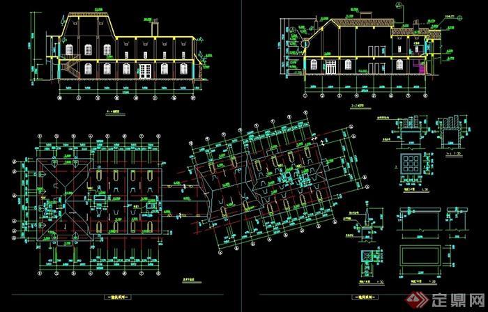 欧式风格详细的影楼建筑设计cad方案