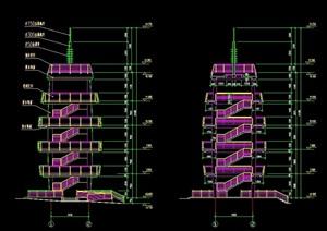 园林景观详细观光塔设计cad施工图