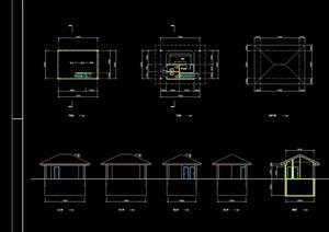 凉亭设计cad方案图