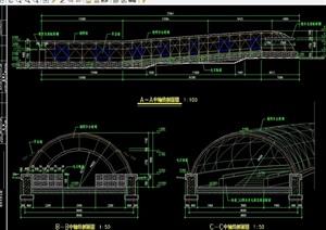 园林水晶隧道详细设计cad施工图