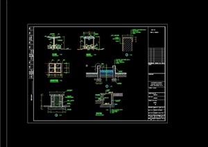 详细的中心花坛花池设计cad施工图