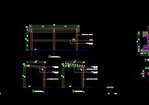 YS-BZ-16~18非机动车棚详图