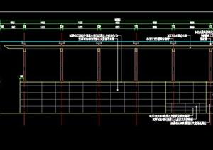 地库人行通道自行车坡道楼梯出入口棚架花架遮阳棚施工图详图