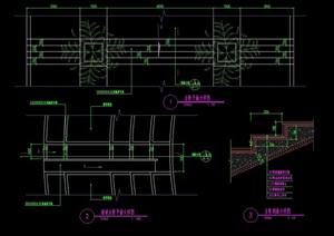园林景观详细的台阶设计cad施工图