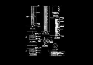 园林景观灯柱详细素材设计cad施工图