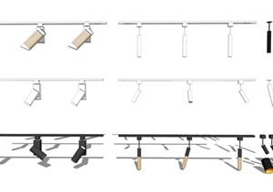現代風格 燈具 射燈 筒燈 軌道燈SU(草圖大師)模型
