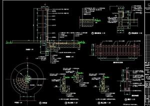 围栏,冲淋台,铺地详细设计cad施工图