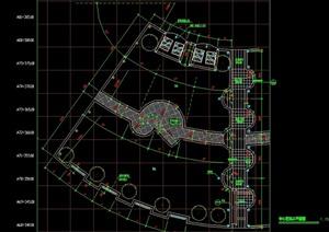 某详细的中心花坛详细整体设计cad施工图