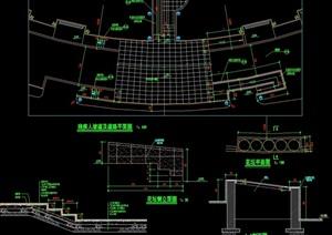 某详细的树穴、铺地、无障碍素材设计cad施工图