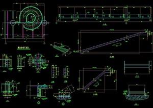 旋转楼梯详细设计cad大样图