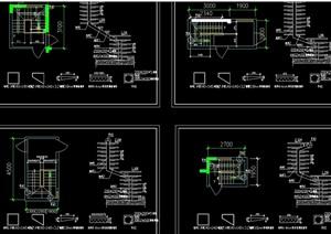 室内钢质楼梯设计cad施工图(天正打开)
