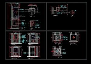电梯骄厢装修cad竣工图