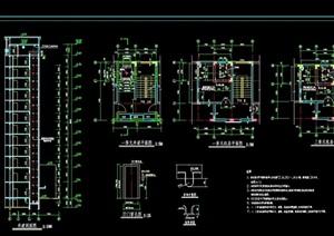 详细的电梯间及井道cad详图
