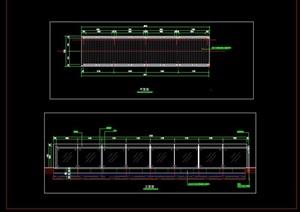 钢结构木栈桥玻璃栏杆护栏木桥施工图详图