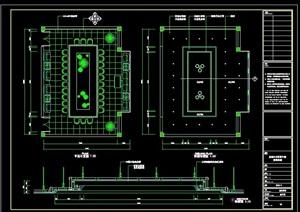 小会议室设计cad施工详图