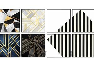 現代抽象 裝飾畫 掛畫SU(草圖大師)模型2