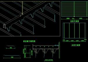 详细的金属顶棚25个cad施工图