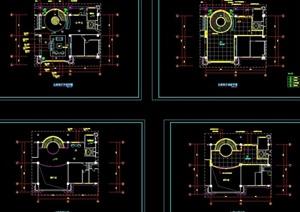 客厅装修设计cad施工详图
