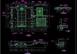 豪华别墅客厅装修设计cad施工图详图
