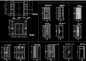 各類裝飾門立面cad圖集