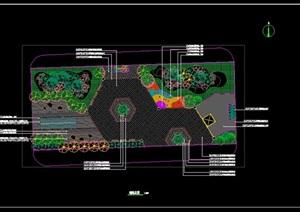 街心花园景观施工图总图索引定位铺装竖向总图绿化总图种植设计
