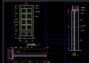 法式别墅门设计cad详图