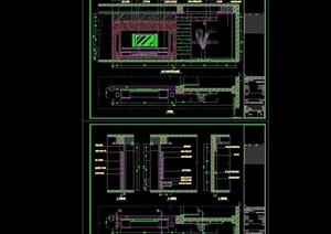 电视背景墙完整设计cad施工详图