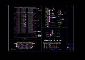 酒店室內大堂石材柱及門素材cad詳圖