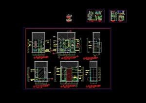 标准房卫生间立面设计cad详图