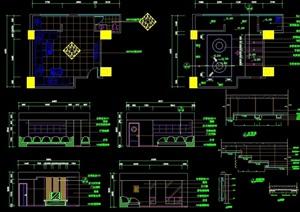 KTV包房详细设计cad施工图