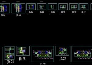 99張單元幕墻節點設計cad施工詳圖