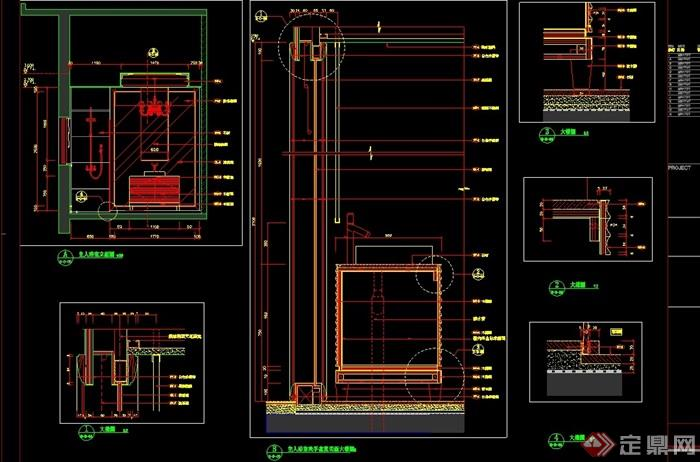 别墅主浴室设计cad详图