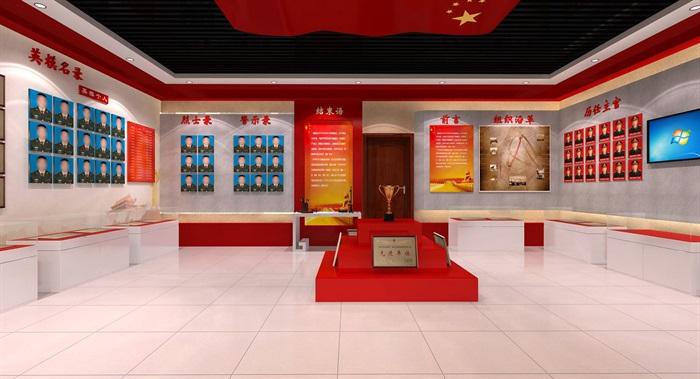 武警部队荣誉展厅设计3D模型及效果图(3)
