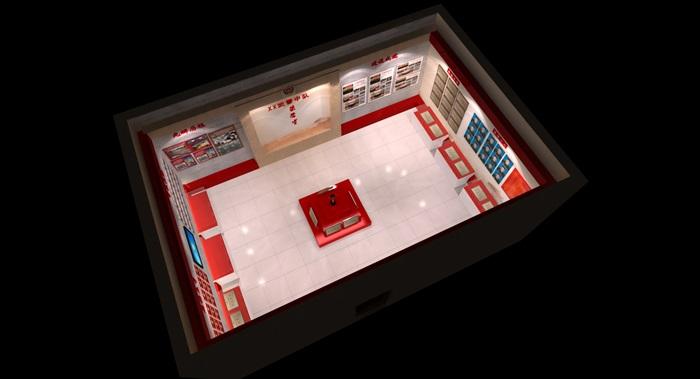 武警部队荣誉展厅设计3D模型及效果图(5)