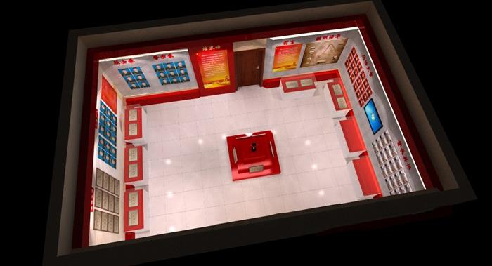 武警部队荣誉展厅设计3D模型及效果图(6)