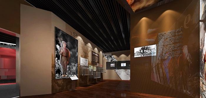 军服展厅、展览馆3D模型及效果图(3)