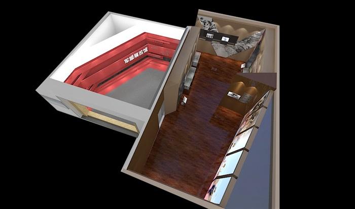 军服展厅、展览馆3D模型及效果图(7)