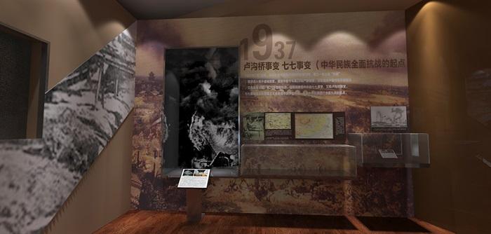 军服展厅、展览馆3D模型及效果图(10)