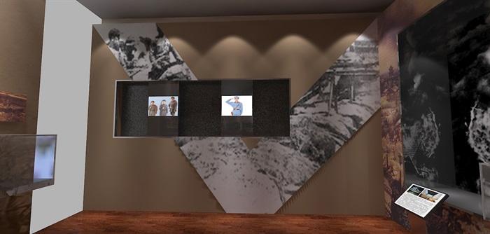 军服展厅、展览馆3D模型及效果图(11)